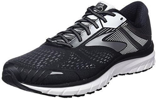 Brooks Adrenaline GTS 18, Zapatillas de Running para Hombre, Negro (Black/Silver/White 1d091), 42.5 EU