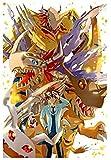 YYTTLL Jigsaw Puzzle Adultos Niños Puzzle 1000 PC, Dibujos Animados Digimon, Caballero Real Puzzle Educación Intelectual Juego