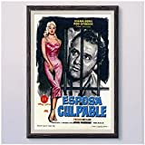 MXIBUN DIE UNheilige Frau Vintage Classic Movie Wand Seide