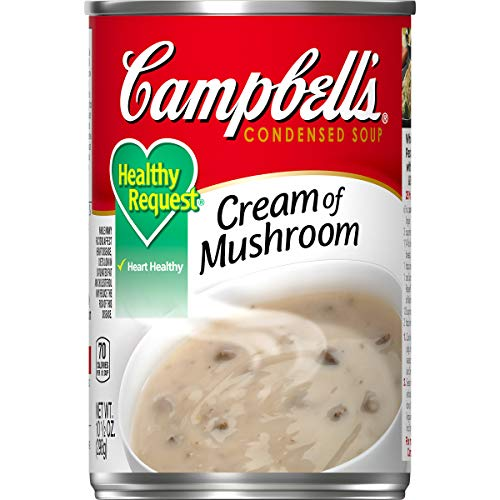 Campbell'sCondensedHealthy RequestCream of Mushroom Soup, 10.5 oz.Can (Pack of 12)