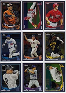 2013Topps Chrome BaseballシリーズCompleteミント220カードセット; It Was Never工場フォームで発行されます。Loaded With Rookies and Stars Including Yasi...
