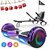 NEOMOTION 6.5 inch Hoverboards and Hoverkart pack Self-Balancing Scooter with Bluetooth LED Light