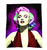 Marilyn Monroe Multicolor Coral Plush Fleece Throw Blanket