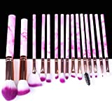 5/10/15pcs Marble Makeup Brushes Tool Natural Brush Set Kit Professional Powder Small Highlighter Lip Eyeshadow