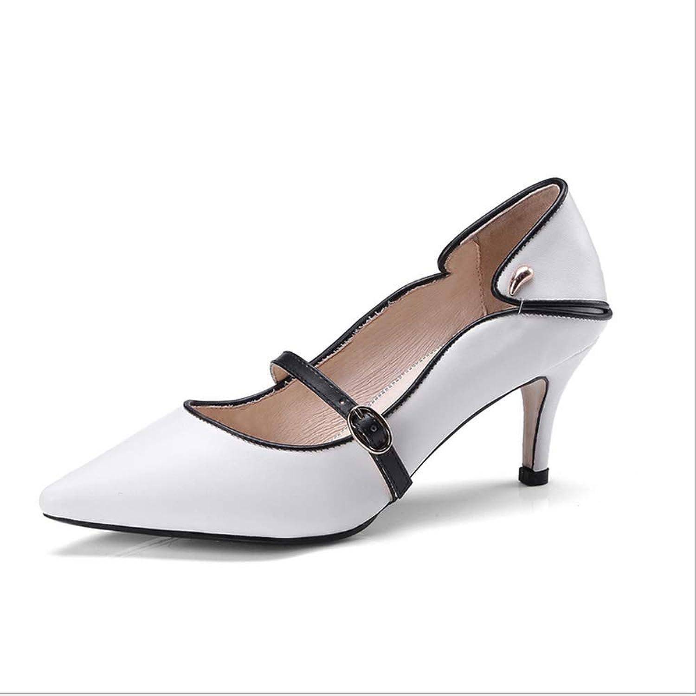 Women's Pointed high Heels high Heels Non-Slip Dress high Heels,White,43