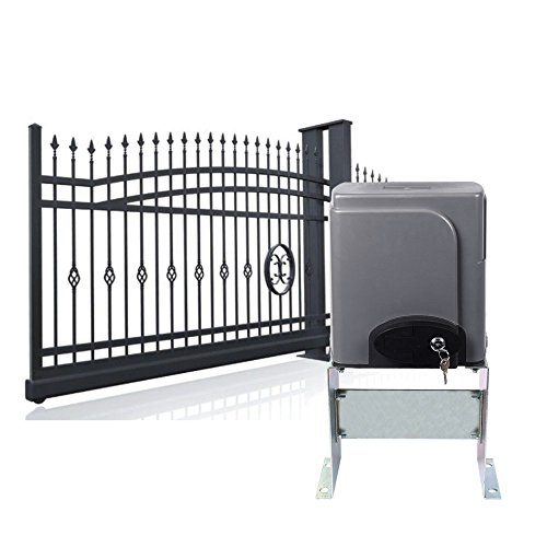 SMTHouse Sliding Gate Opener Sliding Gate Opener Kit Sliding Gate Opener Remote Auto Close Particularly Simple Installation with 2 x Wireless Remotes