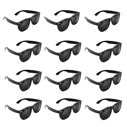 7b1d1ad844b5 Super Z Outlet Plastic Black Vintage Retro Style Sunglasses Shades Eyewear  for Party Prop Favors