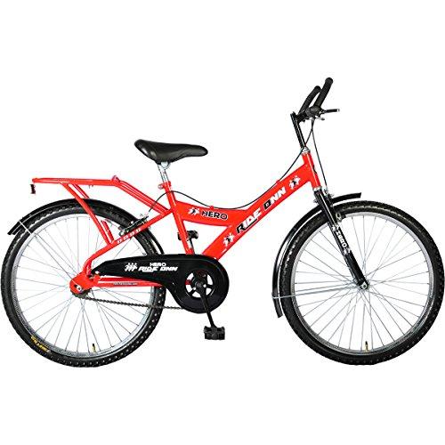 Hero Ride Onn Men's 24T Single Speed Mountain Bike 15-inches (Red)