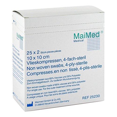 MaiMed VK Vlieskompressen 10x10cm steril 4fach (25230),50St