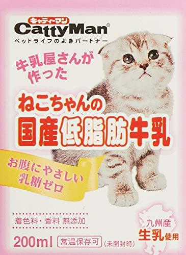 ドギーマンハヤシ『CattyMan(キャティーマン)ねこちゃんの国産低脂肪牛乳』