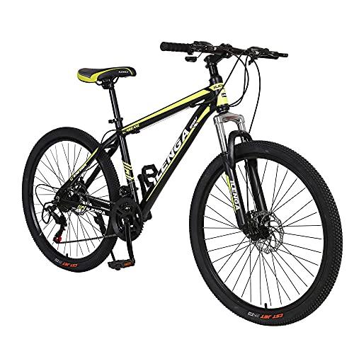 jooe 26 Pulgadas Bicicletas De Montaña, Bikes De Nieve, Bicicleta De Montaña para Adultos Fat Tire, Marco De Acero De Alto Carbono Doble Suspensión Completa Doble Freno De Disc