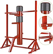 Flex HQ Wing Chun Dummy Adjustable Mook Yan Jong IP Man Training Target (Wood, Red, Silver)