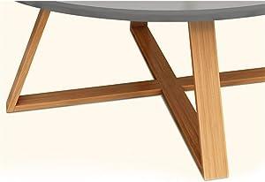 Tavolino da caffè in Legno da Salotto Tavolino da Salotto Rotondo Blu
