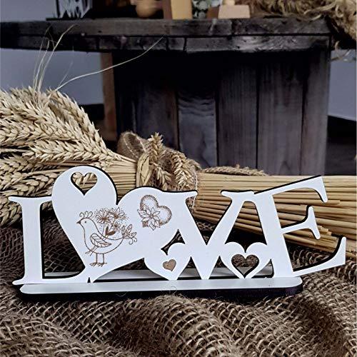 Decoratieve staander Love met hart en motief