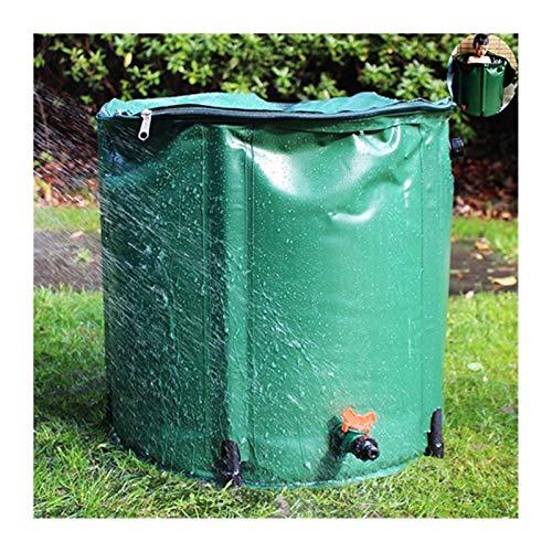 Zusammenklappbar Regenfass, Faltbar Regenwasser Sammelsystem Gittergewebe Filtern Flexibler Zapfen Schließen Sie Einen Schlauch An Zur Gartenbewässerung ( Color : Green , Size : 100L/40x78cm )
