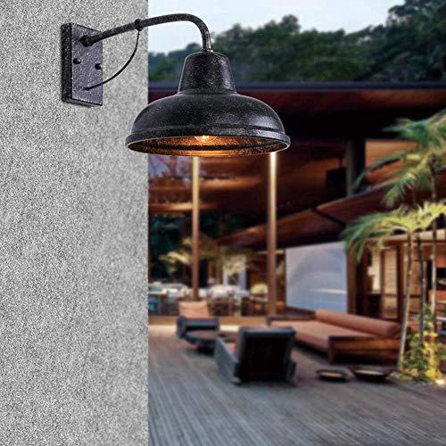 XXLYY Lámpara de Pared Retro Jardín al Aire Libre Patio Luz de Soporte Jardín Comunidad Luces de Pared Villa Puerta Aplique Viento Industrial Luz de Seguridad Exterior