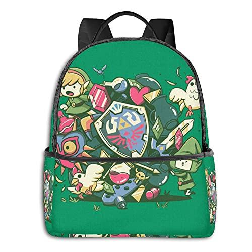 Legend Zelda - Mochila escolar con diseño de anime
