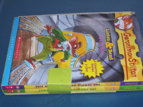 Geronimo Stilton Boxed Set: The Phantom of the Subway/the Temple of the Ruby of Fire (Geronimo Stilton) (Audio Cd and Books) (Volume 13, Volume 14)