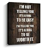 Inspirational Wall Art for Office, Motivational Quotes Poster Wall Decor Framed Canvas Print Home Decoration, B