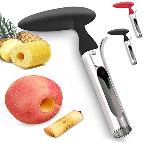 Apfelentkerner, Apfelkernausstecher 304 Edelstahl Apple oder Pear Core Entferner Werkzeug für Home & Küche, Premium Apple Entkerner mit scharfer gezackter Klinge Angle Handle