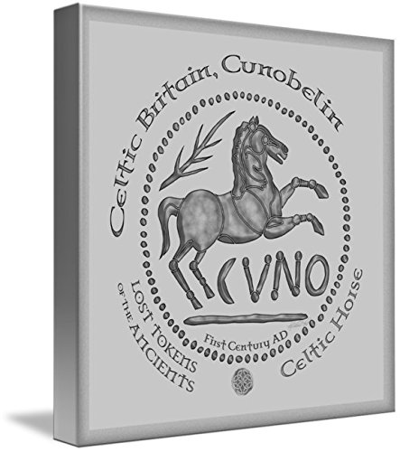 Wall Art Print entitled Celtic Horse Coin by Kristen Fox