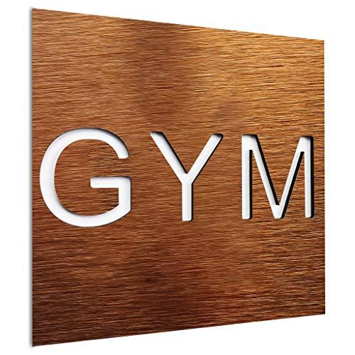 Letrero para puerta de gimnasio - Arte de pared para sala de fitness - Señalización de entrenamiento - Adhesivo para sala de entrenamiento - Tamaño 120 x 120 mm - Uso interior al aire libre