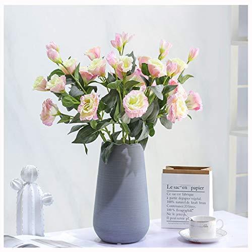 Yyqx Unechte Blumen Künstliche Blumen mit Vase, Fälschung Silk Blumen Blumenarrangements for Home Hochzeit Bürocenter Dekoration künstliche Blumen deko (Color : D)
