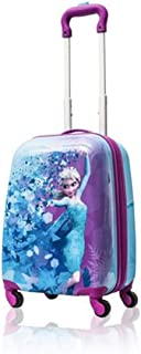 Disney Frozen Hard Side Spinner Trolley 18 Inch Luggage for Kids [Blue]