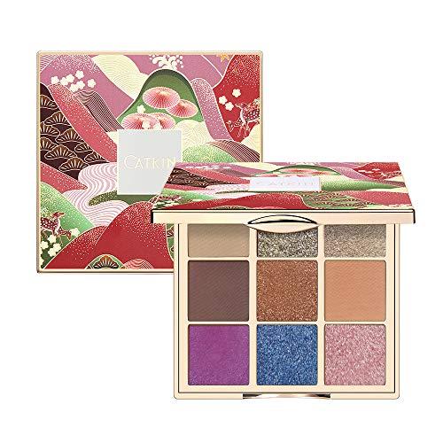 Paletas de sombras de ojos CATKIN, sombras de ojos brillantes, maquillaje mate y con purpurina, paletas de maquillaje altamente pigmentadas con brillo mate, 9 colores (C13)