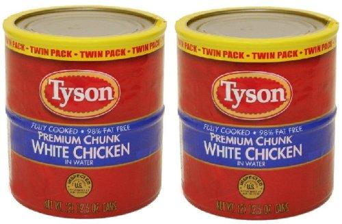 Tyson Premium Chunk White Chicken in Water (12.5 oz Twin Pack) 2 Twin Packs