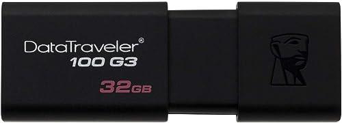 Pendrive Datatraveler 100G3 32Gb, Kingston, Pendrives, Preto