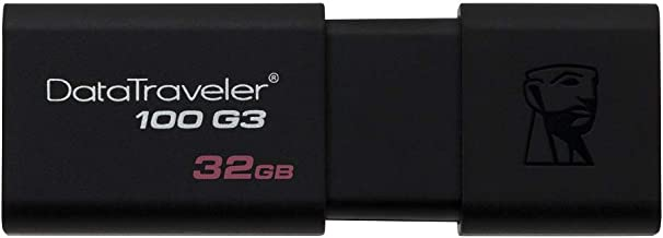 Kingston DT100G3/32GB DataTraveler 100 G3, USB 3.0, 3.1 Flash Drive, 32 GB, NOIR