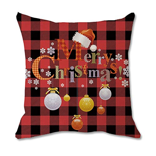 Fasclot Merry Christmas Printing Dyeing Sofa Bed Home Decor Pillow Case Cushion Cover