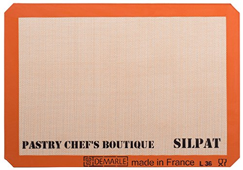 Premium Non-Stick Silicone Baking Mat, Big Sheet Pan Size (2/3 Sheet Pan) for a 15''x 21'' Sheet Pan - 13.58''x 19.5''