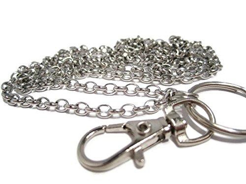 ATLanyards Stainless Steel Chain Lanyard - Stainless Steel Badge Holder