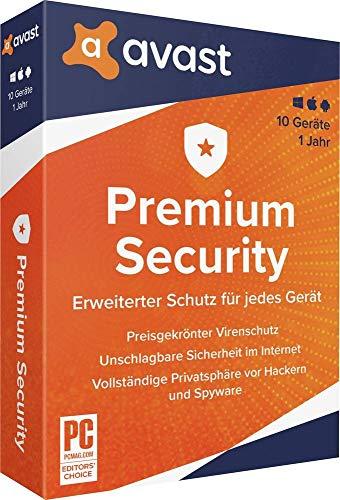 AVAST Premium Security, 10 Geräte, 1 Jahr, 1 DVD-ROM