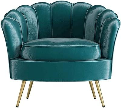 Amazon Com Chx Single Sofa Chair Chair Bedroom Small Sofa Balcony Single Chair C Color Green Furniture Decor