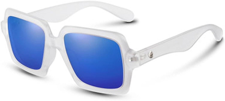 Women's Sunglasses Round Face Personality Frame Polarizer Square Transparent Frame Sunglasses Mirror Retro Vintage Polarizer