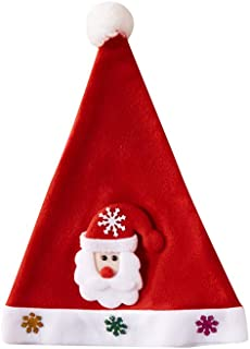Luonita Christmas Snata Hat for Adults Women Men -Christmas Hat Sequin Christmas Hat Christmas Day Decoration Costume Supplies for Christmas Party
