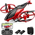 4DRC M3 Helicopter Mini Drone with 720p Camera for Kids, Remote Control Quadcopter Toys Gifts for Boys Girls with FPV Live Video,3D Flips, Gestures Selfie, Altitude Hold, One Key Start, 2 Batteries