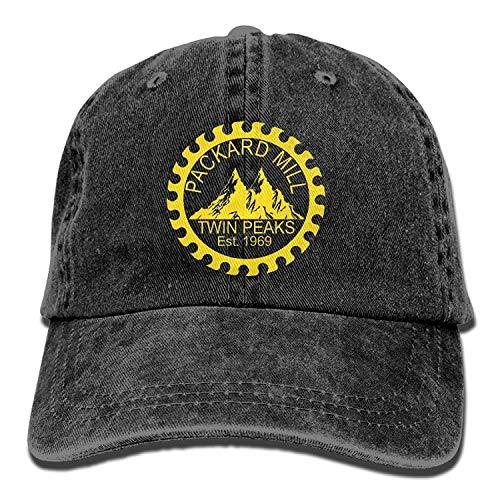 ANIDOG Twin Peaks Packard Mill Gorra Unisex Ajustable para papá de Mezclilla para Adultos
