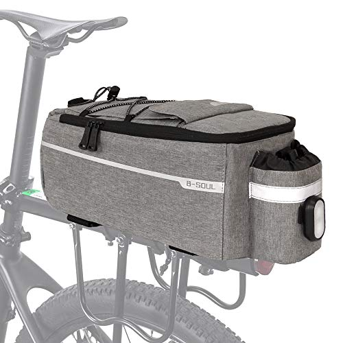 RAYMACE Bike Rear Rack Bag with Tail Light, Bike Truck Cooler Bag for Warm or Cold Items