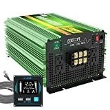 EDECOA 24V Pure Sine Wave Power Inverter 3500 Watt DC 24V to AC 110V 120V Power Converter with LCD Display and Dual USB Remote 4...