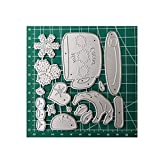 Christmas Snowman Hot Teacup Cocoa Metal Frame Dies for Card Making Embossing Paper Craft,iu 20