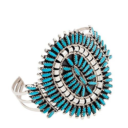 Indianerschmuck Türkis Needlepin Armreif Zuni Style Indianerarmreif Westernschmuck Indianer