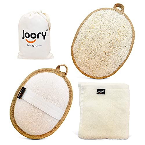 Egyptian Natural Loofah Exfoliating Body Scrubber 2-Pack – Shower Sponges...