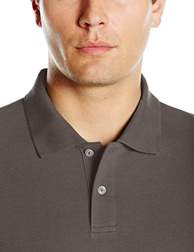 Amazon Essentials Regular-Fit Cotton Pique Polo Shirt, Gris (Dark Grey), XX-Large