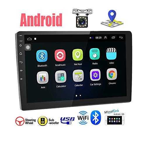 """Android 9.1 Autoradio - Podofo Car Stereo Bluetooth 2 DIN 9"""" HD Touch Screen Supporto GPS Navigation/WiFi/Controllo del volante/Mirrorlink/Radio FM/Doppia USB/Telecamera Posteriore"""