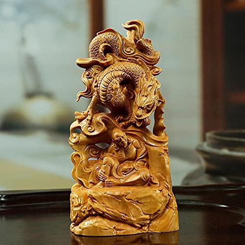 JJPRFO Artesanía de joyería Tallada en madera-15CM