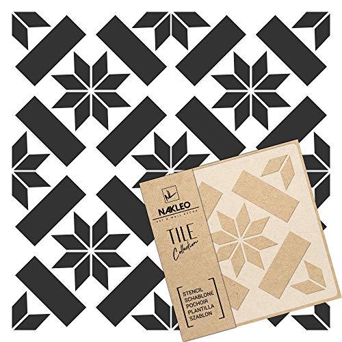 ERRADA - Plantilla de plástico reutilizable para azulejos, diseño geométrico marroquí, pared y suelo, 0,5mm Mylar/Plástico, 33x33cm